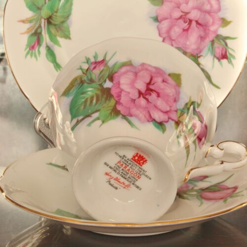 Bowl Plate Jug H Wheatcroft Paragon Bone China SIX WORLD FAMOUS ROSES Trio