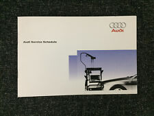 AUDI SERVICE BOOK GENUINE BRAND NEW FOR ALL MODELS PETROL AND DIESEL A3 A4 A5 A6