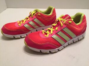 Details about Adidas Climacool Running Shoes Red Pink Yellow Women's Size 4