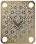 Cuello-Placa-Custom-Oro-para-Guitarra-Bajo miniatura 2
