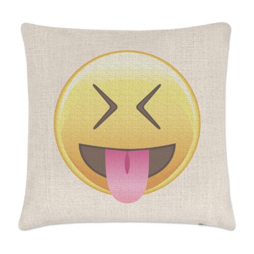Langue des yeux fermés Emoji draps housse de coussin oreiller drôle