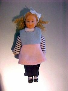 Joey Diaz Handpainted Poseable Hispanic Dollhouse Doll 1:12 Baby Boy Brother