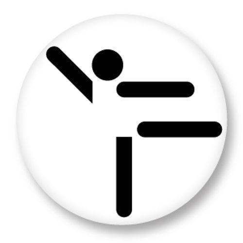 Magnet Aimant Frigo Ø38mm Picto Pictogramme Sport Game Olympic gym gymnastique