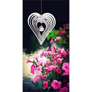 Woodstock Shimmers - CRYSTAL HEART  - Crystal Sun Catcher Spinner SHCH