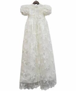 Vintage Baby Robes Pour Filles Garçon Baptême Robes Bébé Baptême Bonnet-afficher Le Titre D'origine