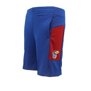 Kansas Jayhawks Youth Kids Size Official NCAA Adidas Climalite Shorts New Tags