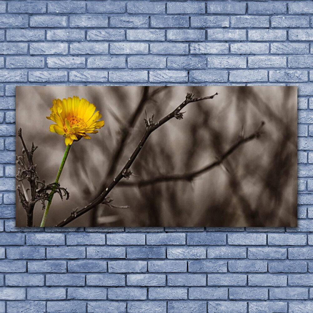 Glas Drucken Wand Kunst 140x70 Image Bild Branch Flower Floral