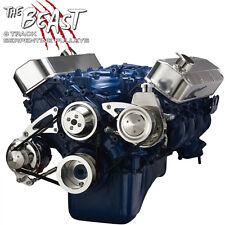 Big Block Ford Serpentine Pulley Conversion Kit Power Steering 429 460 BBF