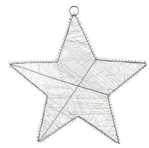 Am design stern silber metall 50 cm draht fensterdeko h ngen weihnachten ebay - Fensterdeko zum hangen ...