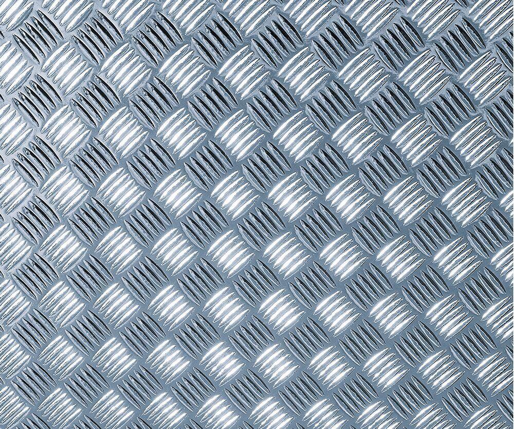 D-c-fix Folie, Riffelblech silber glänzend, selbstklebend, Rolle 45 x 1000 cm