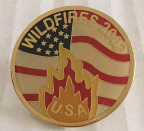 Forest Fire Department Lapel Pinback 2002 WildFires