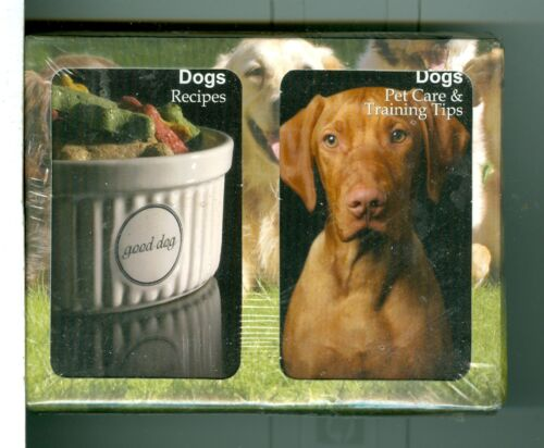 "Two Decks Non-Stand Playing Cards /""108 Dog Recipes//Pet Care/""Finders Forum,Canada"