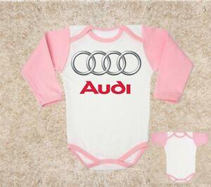 future AUDI logo BABY BODY blue t-shirt kids baby clothing toddler 0-24 months