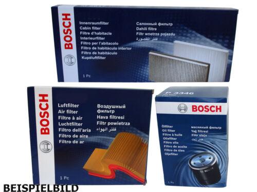 ORIGINAL Bosch Filtersatz Ölfilter Luftfilter Innenraumfilter P3336 S3529 M2120