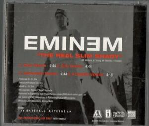Details about Eminem, The Real Slim Shady (Clean / Dirty / Instrumental / A  Cappella) PR CD