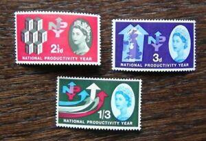 GRAN-BRETAGNA-1962-la-produttivita-NAZIONALE-ANNO-Phosphor-Set-mm