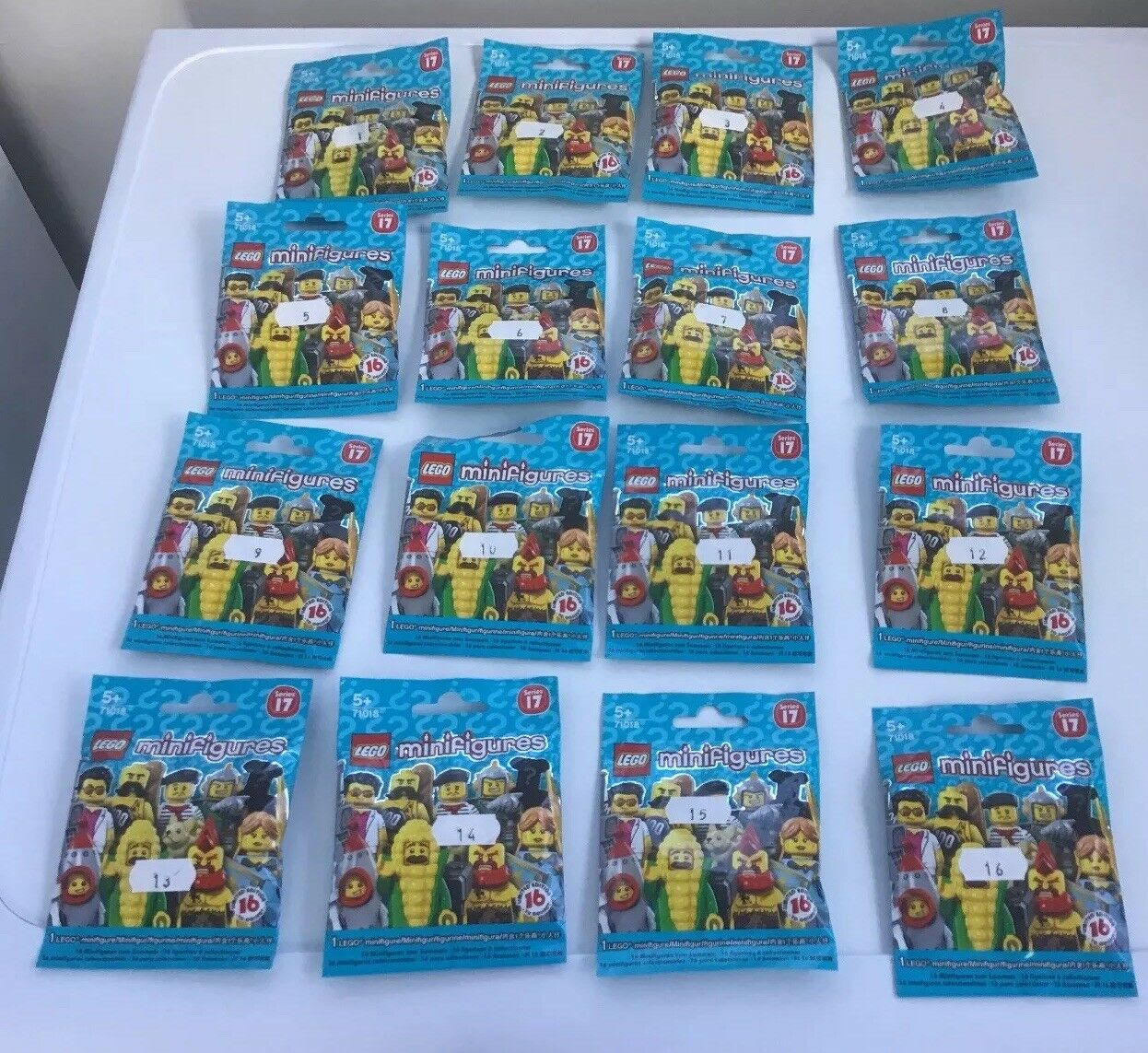 Lego Minifigures Series 17 Set 71018 Complete 16 Minifigs From 2017  New