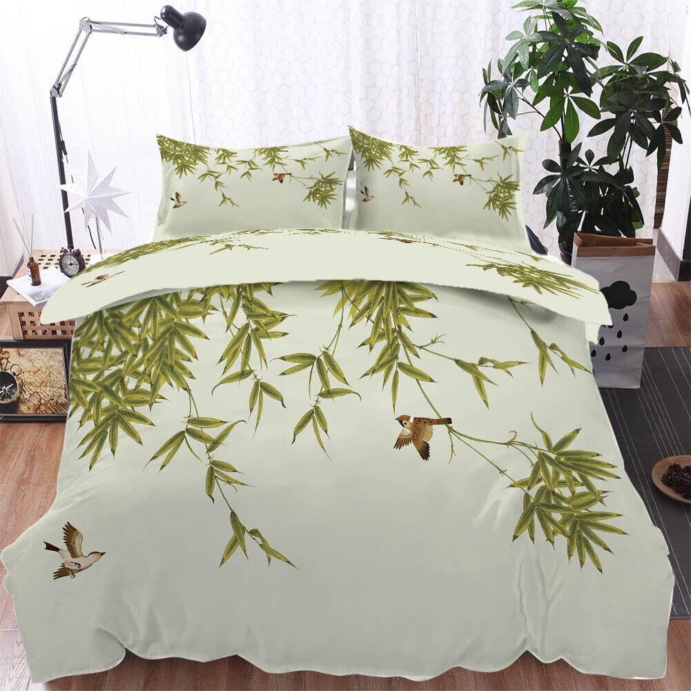 grau Winged Bird 3D Druckening Duvet Quilt Will Startseites Pillow Case Bettding Sets