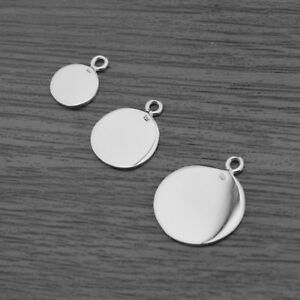 Genuine 925 sterling silver disc blanks circle pendants stamping image is loading genuine 925 sterling silver disc blanks circle pendants aloadofball Gallery