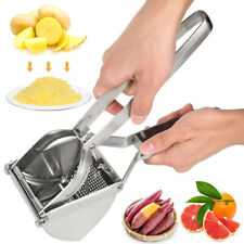 New Large Stainless Steel Potato Ricer Masher Fruit Press Juicer Crusher Squeeze