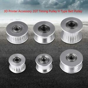 GT2 Idler Timing Pulley Bearing 16T 20T 3//5mm Bore F 6mm Belt Reprap 3D Printer