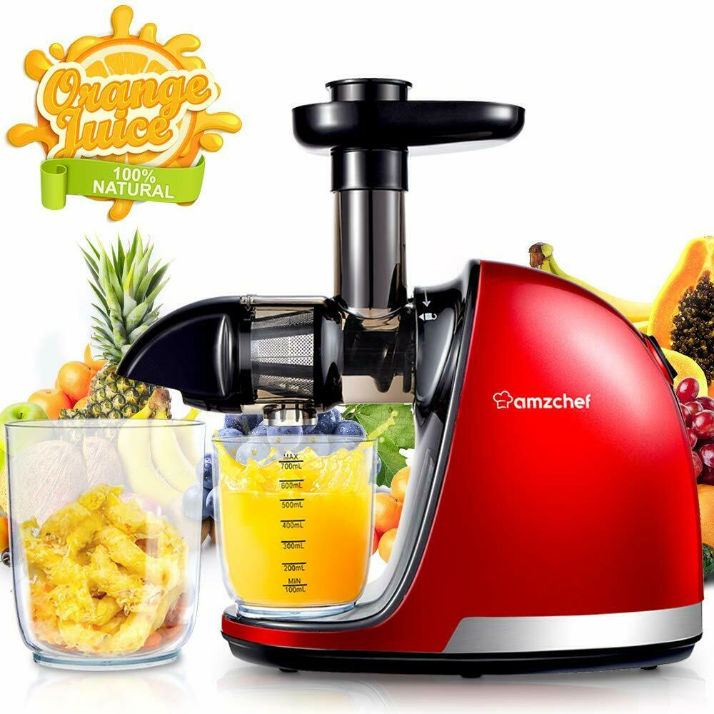 Amzchef Blender Cold Pressed with Function Osmosis & Engine Silent