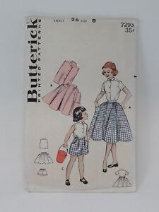 Butterick-Patron-de-Costura-7293-Chicas-Verano-Juego-23-30-Mama-Talla-8
