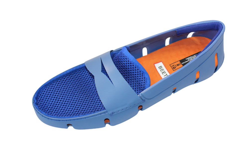 Mens Moccasin casual -sport ,bluee Quality warranted water resistant