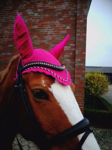 ZAINEE HORSE FLY VEIL EAR NET BONNET BREATHABLE COTTON 27 COLORS FREE SHIPPING