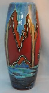 Anita-Harris-Trial-Vase-for-Carlton-Ware-landscape-with-trees-printed-mar
