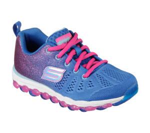 Details zu NEU SKECHERS Mädchen Sport Sneakers Memory Foam SKECH AIR ULTRA GLITTERBEAM Blau