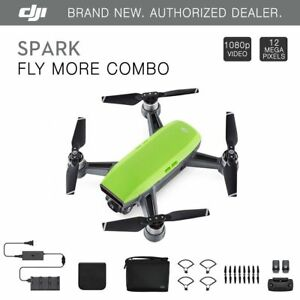 DJI Spark Fly More Combo - Meadow Green Quadcopter Drone...