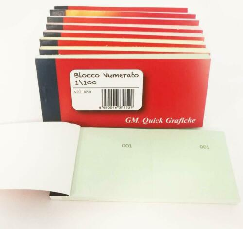 10 blocks numbered 1-100 Multi-Booklet Numbered Gift Pen Touch