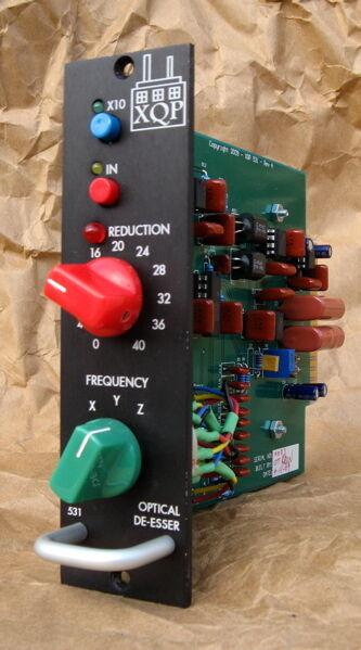 EX DEMO - XQP Audio 531 Optical De-esser , for VPR 500 API Rack , made in USA