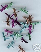 """Bright DRAGONFLY 1//8/"""" Quicklets Eyelets Spring Bugs Scrapbooking Card Making"""