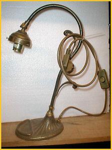 Tischleuchte Messing Lampe Leselampe Jugendstillampe Jugendstil Lampenfuß 14 Anj