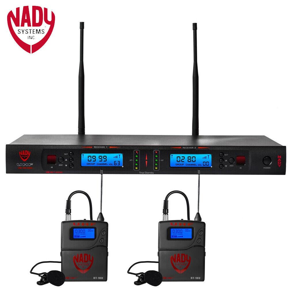 Nady 2W-1KU-LT-US Dual True Diversity 1000-Channel Professional UHF Wireless Sys