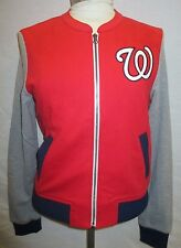 Washington Nationals Women Medium Full Zip Cloth Jacket MLB Touch Red A14TLF