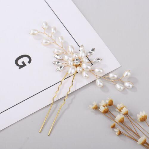 1//2//3 PCs Wedding Bridal Bridesmaid Headdress Pearls Hair Clip Vine Headdress UK