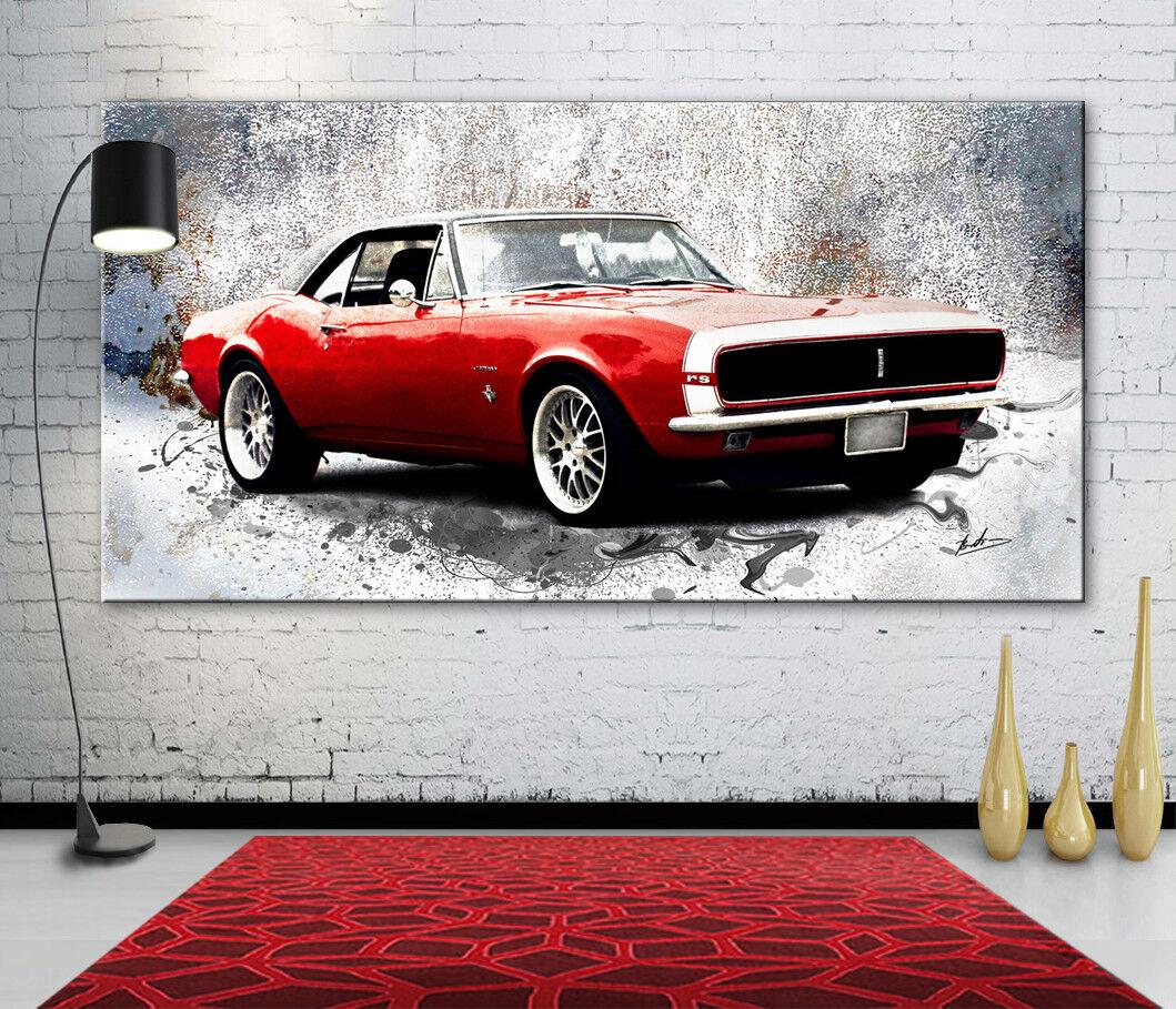 Chevrolet Camaro RS coche auto deportivo lienzo murales imágenes lienzo deportivo abstracto 2182a c5ce9b