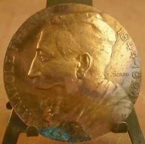 Médaille Anatole France 1844-1924 Signée, Sicard Medal 勋章 Mbr Académie Française