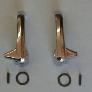 Pair w//lock 52 53 54 55 1st Chevy 3100 GMC Truck Chrome Exterior Door Handles