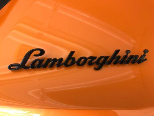 LAMBORGHINI HURACAN GENUINE BRAND PAINTED GLOSS BLACK EMBLEM OEM # 4T0853742