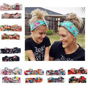 2Pcs-Womens-Kids-Baby-Girls-Headband-Bow-Flower-Hair-Band-Accessories-Headwear