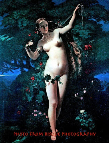 """Nude Nature Nymph 8.5x11/"""" Photo Print Naked Woman Sensual French Art Ziegler"""