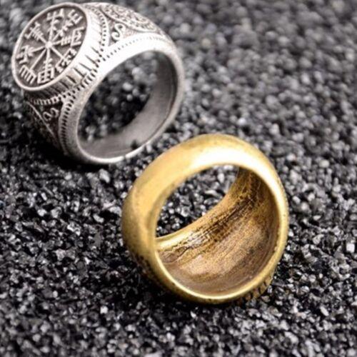 Populaire Viking Boussole Valknut runique Odin symbole nordique nordic Pirate Finger Ring