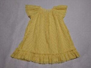 hand smocked lace newborn dress vintage gingham baby shower gift baby/'s first easter dress yellow pastel christening dress 9 to 12 months