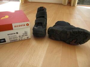 Ricosta Jungen Winter Schuhe Stiefel Klett Gr. 31 dunkelgrau-blau