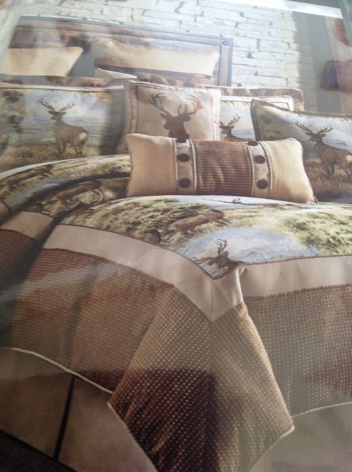 Croscill Cold Springs Queen 4 Piece Comforter Set, NEW