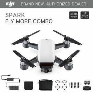 DJI-Spark-Fly-More-Combo-Alpine-White-Quadcopter-Drone-12MP-1080p-Video